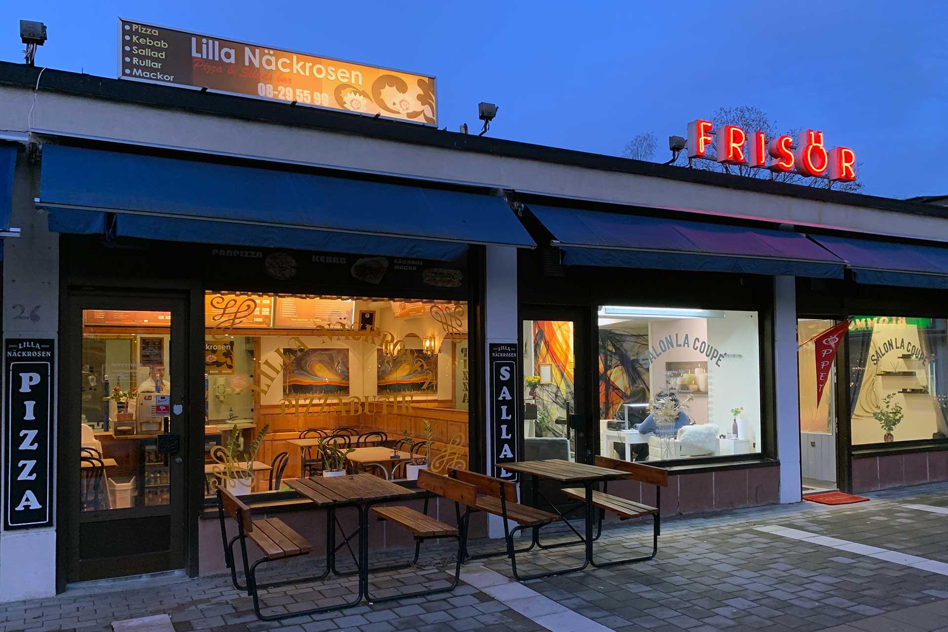 Pizzeria på Storskogstorget